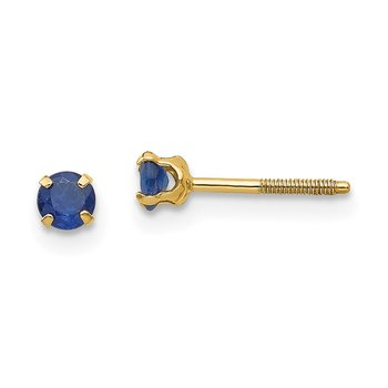 14k Madi K 3mm Sapphire Birthstone Earrings