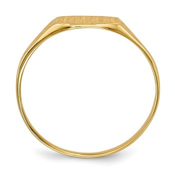 14k 7.0x8.5mm Open Back Signet Ring