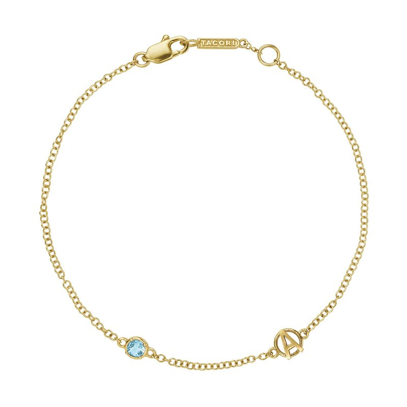 Tacori Fashion The Gemstone & Monogram Bracelet w/ Swiss Blue Topaz
