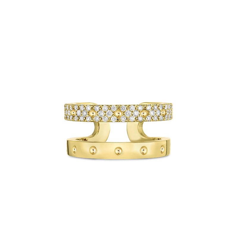 Roberto Coin Double Symphony Pois Moi Ring With Diamonds