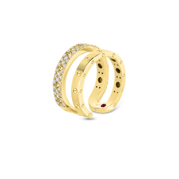 18KT GOLD DOUBLE SYMPHONY POIS MOI RING WITH DIAMONDS