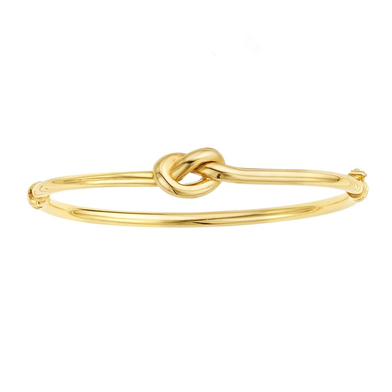 Royal Chain 14K Gold Polished Puffed Love Knot Bangle