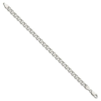 Sterling Silver 5.5mm Double Link Charm Bracelet