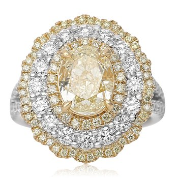 Blooming Fancy Yellow Diamond Ring