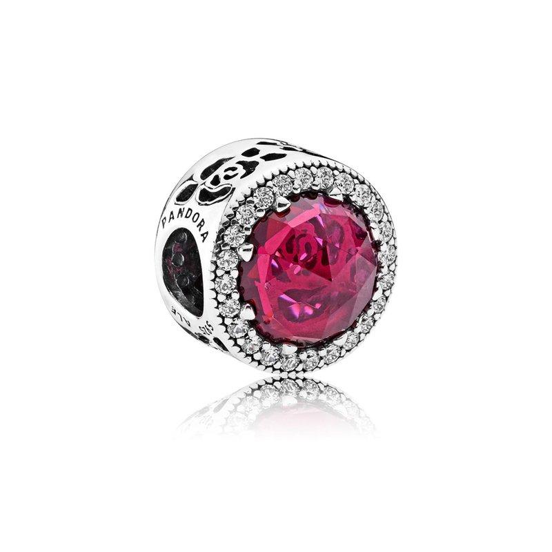 55bccc6f9 PANDORA Disney, Belle's Radiant Rose, Cerise Crystals & Cubic Zirconia