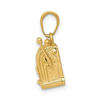 14k 3-D Moveable Slot Machine Pendant