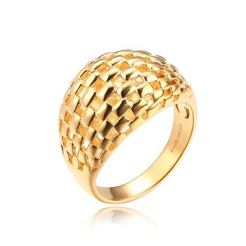 Gold Checkered Ring