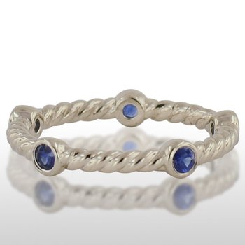 Ladies' White Gold Sapphire Ring