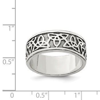 Sterling Silver Antiqued Celtic Knot Ring