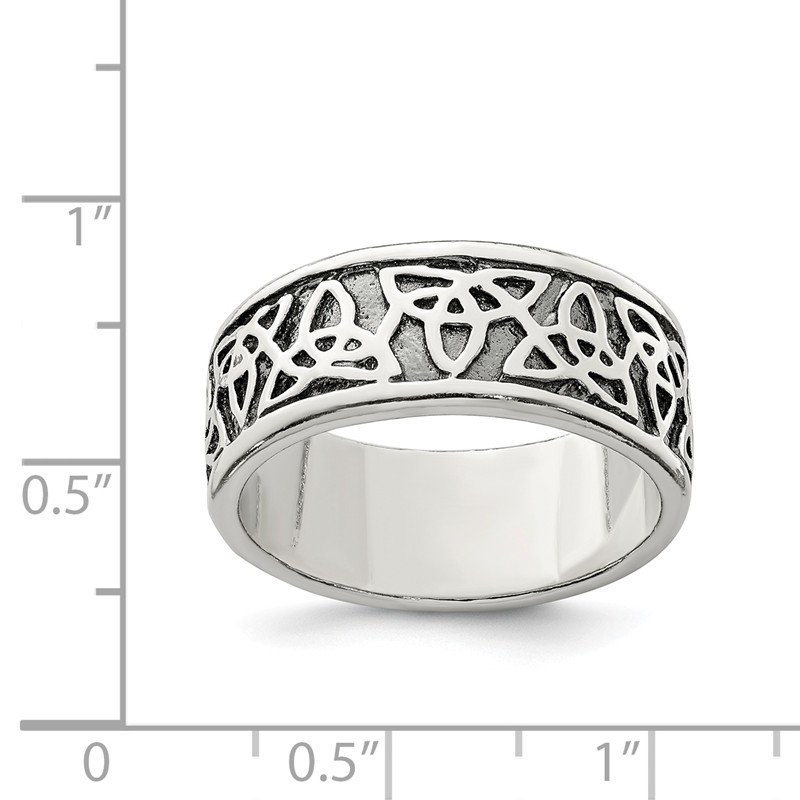 Quality Gold Sterling Silver Antiqued Celtic Knot Ring