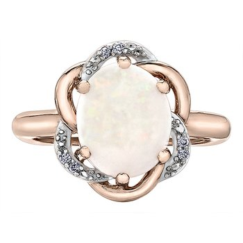 Opal Ladies Ring