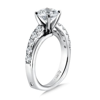 Criss Cross Diamond Engagement Ring in 14K White Gold with Platinum Head (1-1/2ct. tw.)
