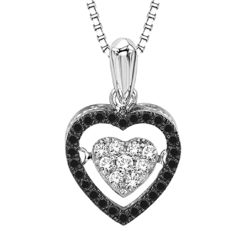 Rhythm of Love Silver Black Diamond Rhythm Of Love Pendant
