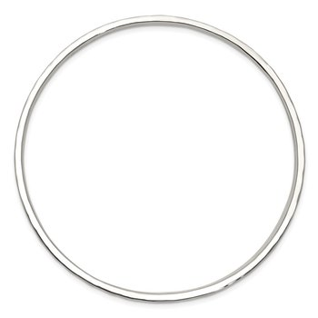 Sterling Silver Hammered Slip-on Bangle