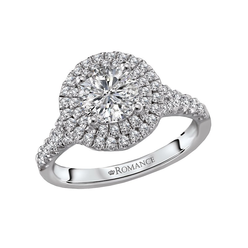 Romance Halo Semi-Mount Diamond Ring
