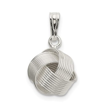 Sterling Silver Polished Love Knot Pendant