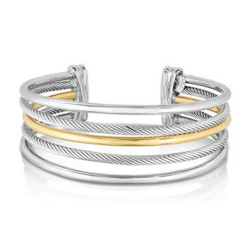 Magnifica Five Row Cuff in Sterling Silver & 18K Gold
