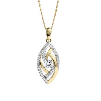 Abstract Eye Diamond Pendant