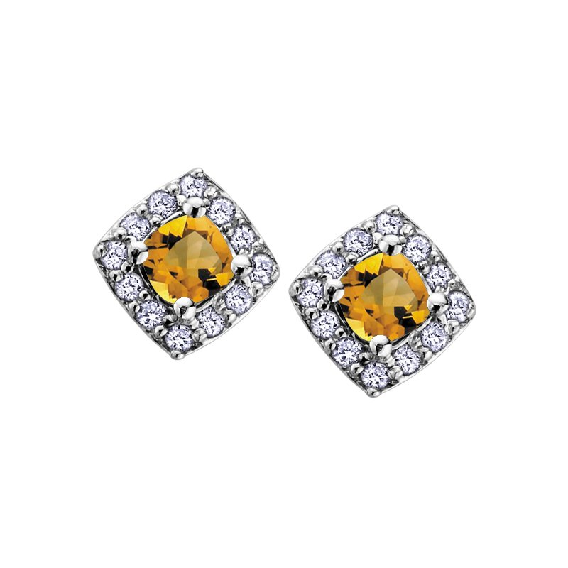 D of D Signature Birthstone & Diamond Earrings