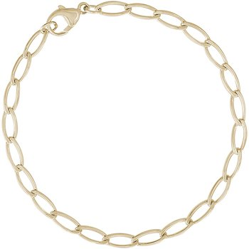 Elongated Oval Link Bracelet (Gold Plated)