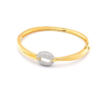 Diamond Two Tone Bangle