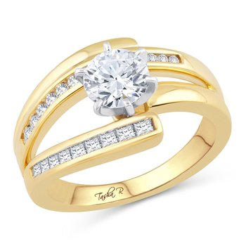 14K 0.37Ct Diam Semi Mount