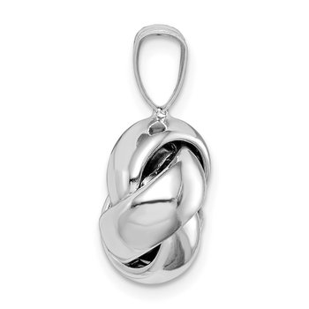 Sterling Silver Rhodium-plated Polished Love Knot Pendant