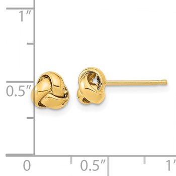 14k Gold Polished Love Knot Post Earrings