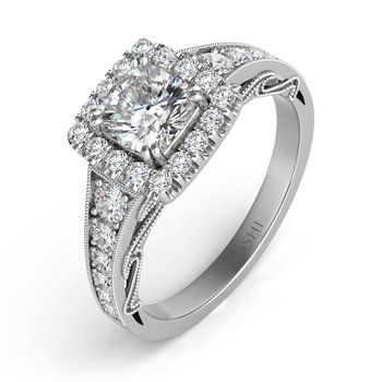 Platinum Halo Ring