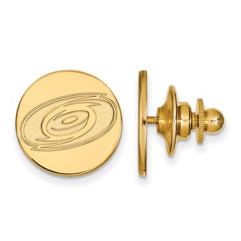 Gold-Plated Sterling Silver Carolina Hurricanes NHL Lapel Pin