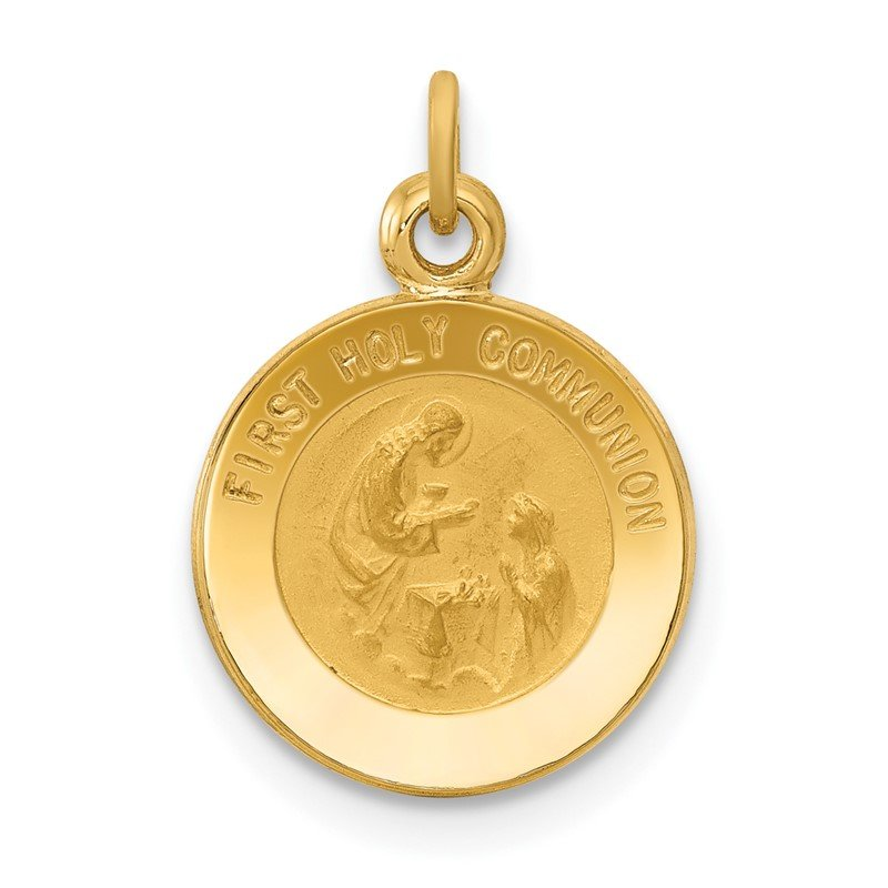 Quality Gold 14k First Communion Medal Charm