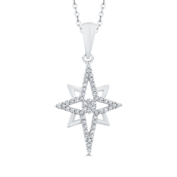 Round Cut Diamond Star Fashion Pendant
