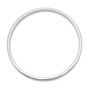 Sterling Silver Rhod. Plated Polished Slip-on Child's Bangle