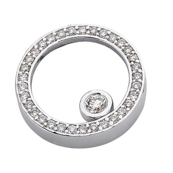 White Gold Circle Pendant