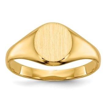 14k Childs Signet Ring