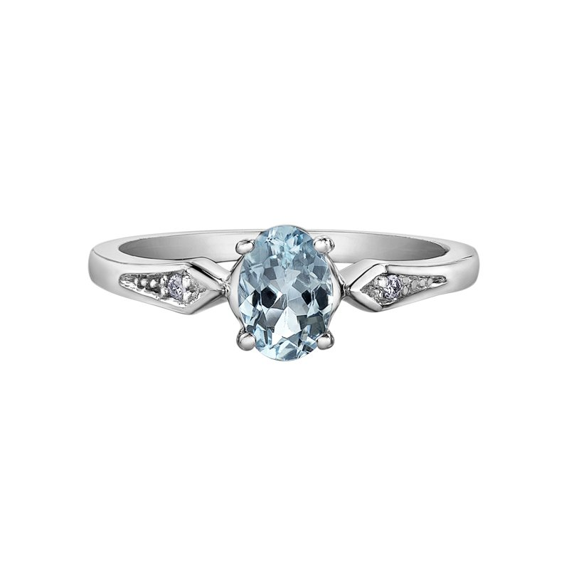 Diamond Days Aquamarine Ladies Ring