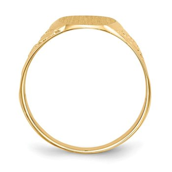 14k 14.5x11.0mm Closed Back Men's Signet Ring