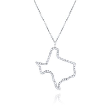 14K Gold and Diamond Texas Necklace