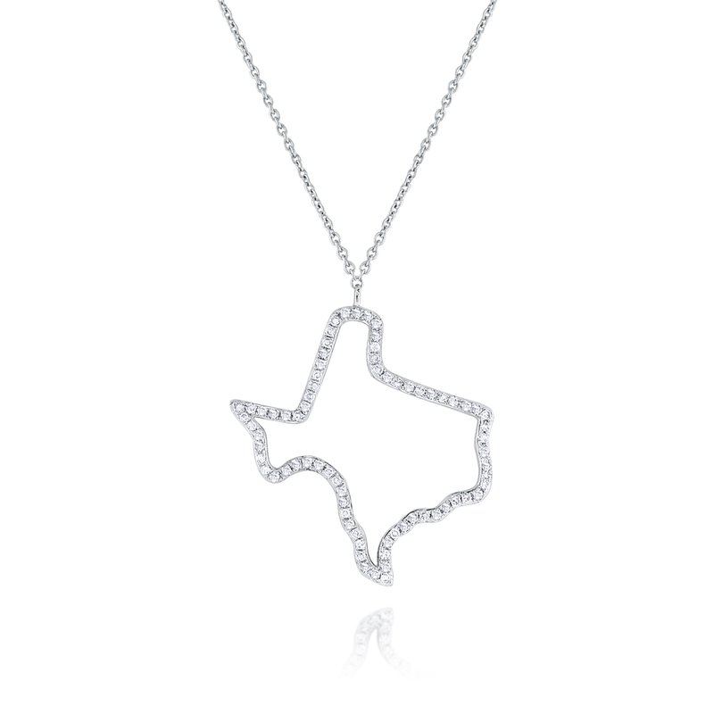 KC Designs 14K Gold and Diamond Texas Necklace