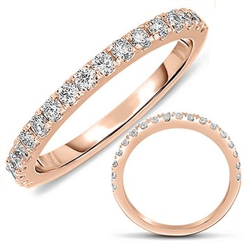 Rose Gold Matching Diamond Band