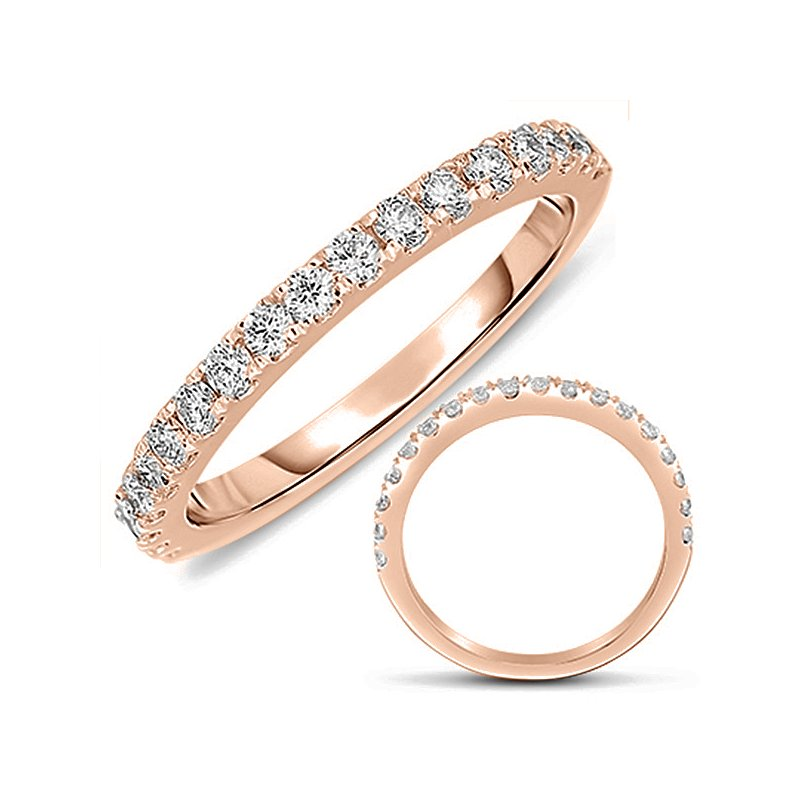 S. Kashi & Sons Bridal Rose Gold Matching Diamond Band