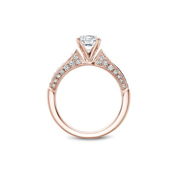 Side-Stone Solitaire Engagement Ring