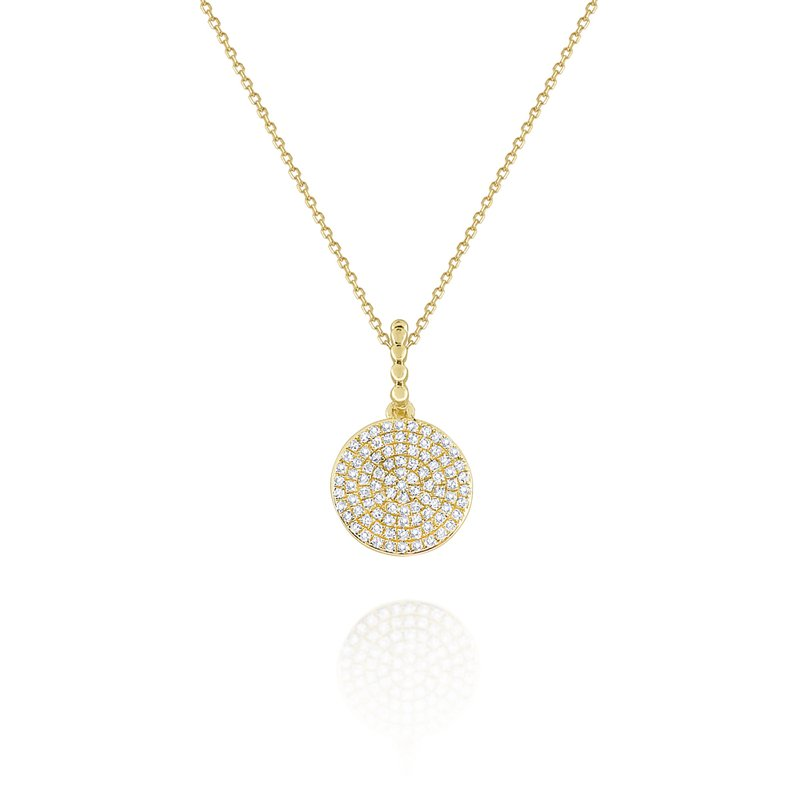 KC Designs 14K Gold and Diamond Disc Pendant