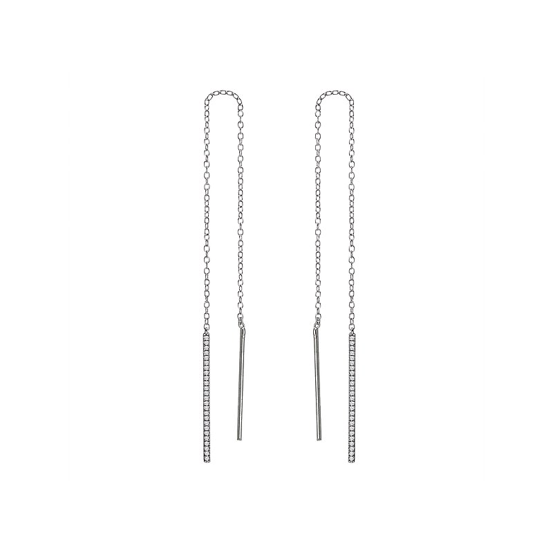 Tesoro Ladies Diamond Threaded Earrings
