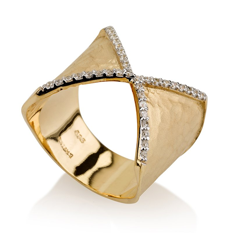 I. Reiss 14K-Y CUFF RING, 0.20CT