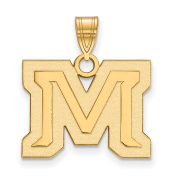 Gold-Plated Sterling Silver Montana State University NCAA Pendant