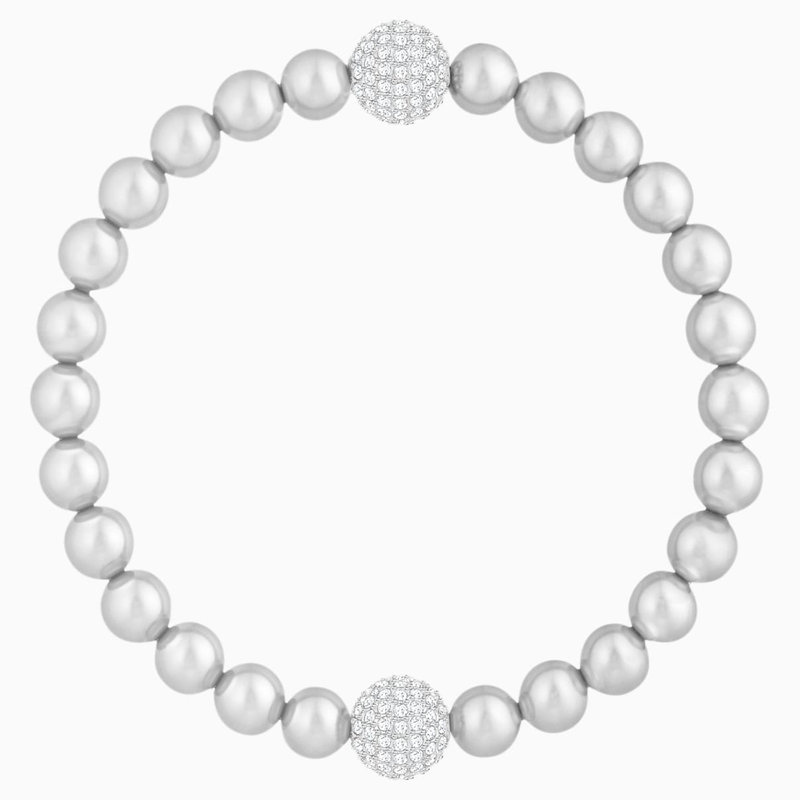 Swarovski Swarovski Remix Collection Crystal Pearl Strand, Gray, Rhodium plated