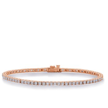 Rose Diamond Tennis Bracelet