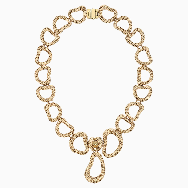 Swarovski Tigris Necklace, Gold tone, Gold-tone plated