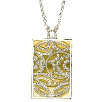Rectangular Medallion Pendant Necklace